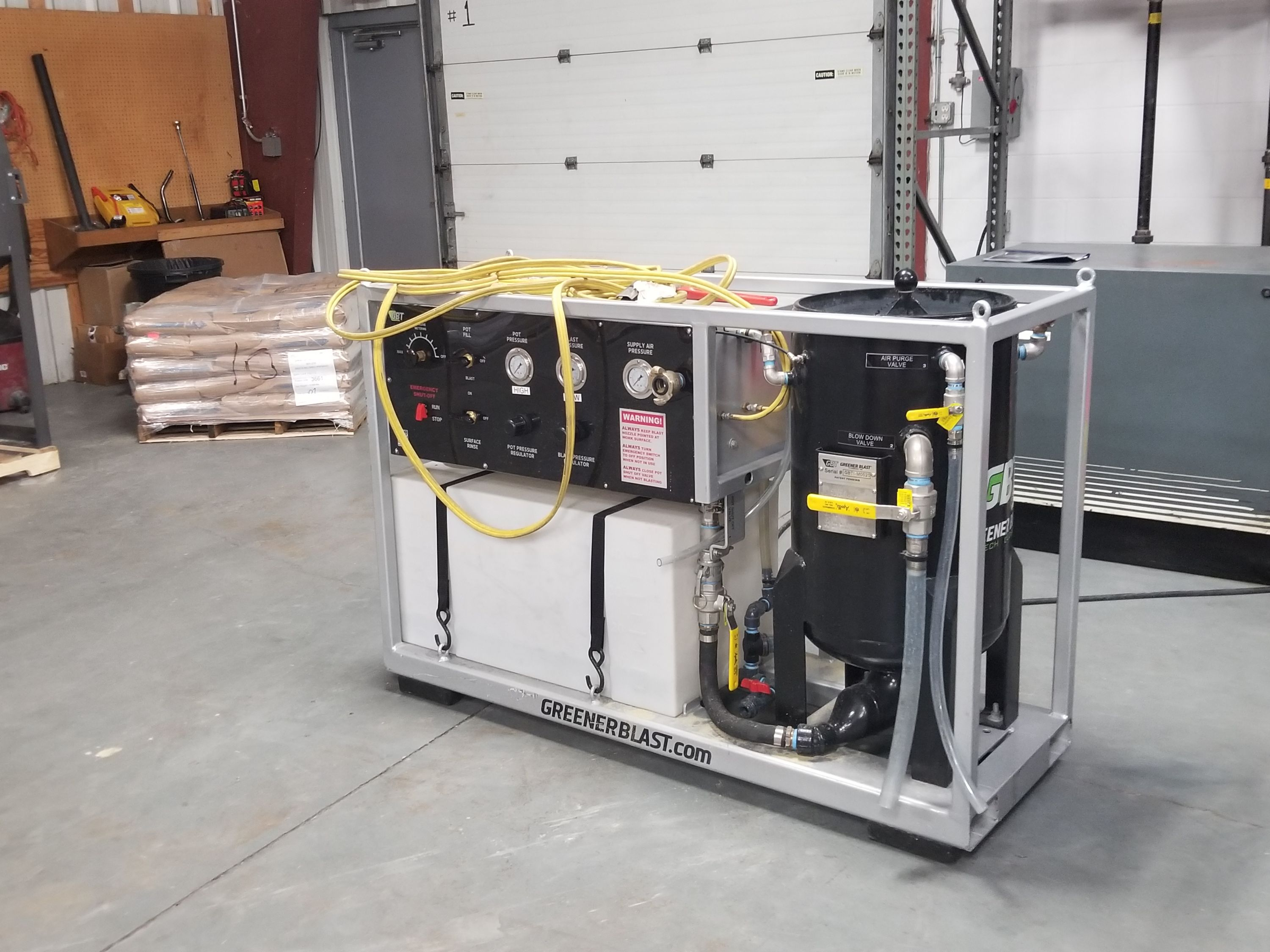 Used Greener Technologies High Pressure Wet Blast System